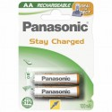 Panasonic 1x2 Akku Nimh Mignon Aa 1000 Mah Ready To Use Dect