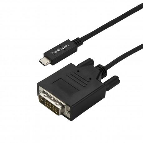StarTech.com CDP2DVI3MBNL videokaapeli-adapteri 3 m USB C DVI-D Musta