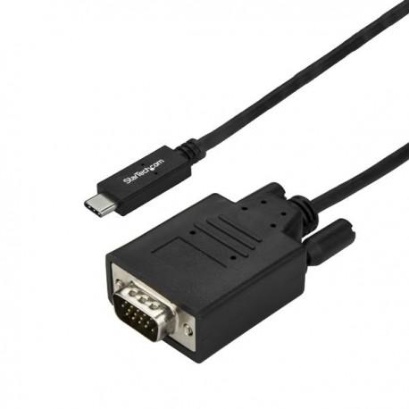 StarTech.com CDP2VGA3MBNL videokaapeli-adapteri 3 m USB C VGA (D-Sub) Musta