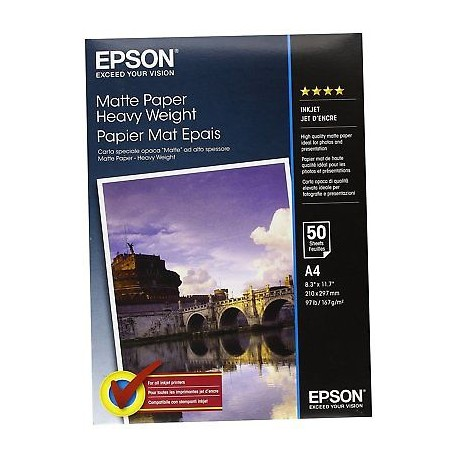 Epson Double-Sided Matte Paper - A4 50 arkkia
