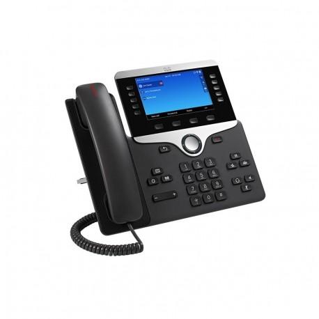 Cisco 8841 IP-puhelin Musta, Hopea Johdollinen puhelin