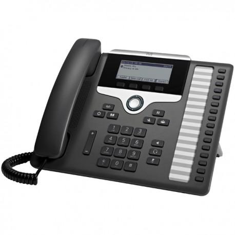Cisco 7861 IP-puhelin Musta, Hopea Johdollinen puhelin LCD 16 linjat