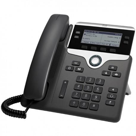 Cisco 7841 IP-puhelin Musta, Hopea Johdollinen puhelin LCD 4 linjat