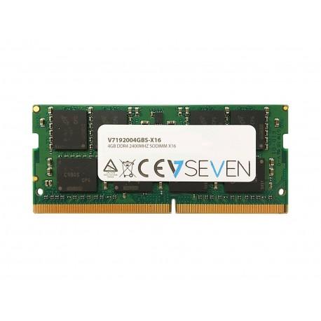 V7 V7192004GBS-X16 muistimoduuli 4 GB DDR4 2400 MHz