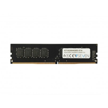 V7 V7192004GBD-X16 muistimoduuli 4 GB DDR4 2400 MHz