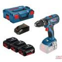 Bosch Gsb 18v-28 Professional + 3x 3,0 Ah Akku + L-boxx