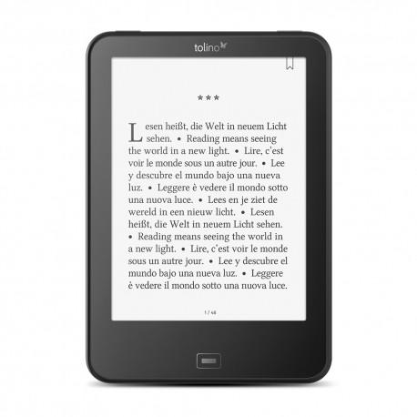 Tolino vision 4 HD e-kirjan lukulaite Kosketusnäyttö 8 GB Wi-Fi Musta