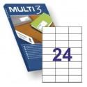 MULTI3 Labels A4-etikettitarra 70x35mm 24 tarraa / arkki