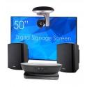 SWEDX 50″ kosketusnäyttö + Vivitek NovoPRO + WinSafe 12x kamera + mikrofoni + kaiuttimet + asennus
