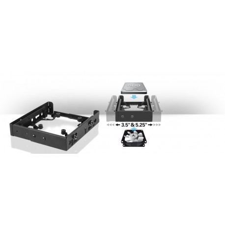 Sharkoon HDD Vibe-Fixer PRO muuntuva kovalevykehikko
