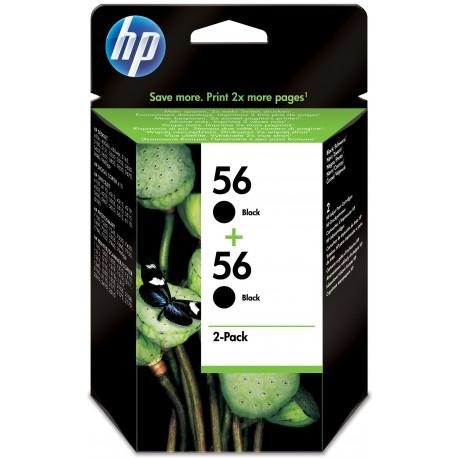 HP 56 Alkuperäinen Valokuva musta Monipakkaus 2 kpl