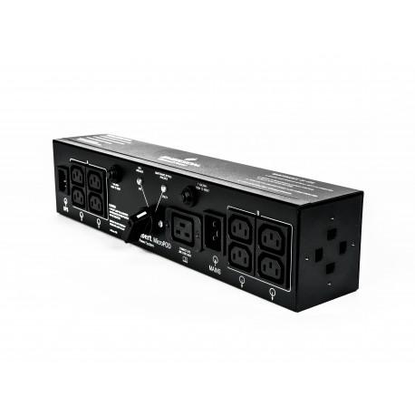 Vertiv 2U MicroPod External maintenance Bypass tehonjakeluyksikkö Musta 19 AC-pistorasia(a)