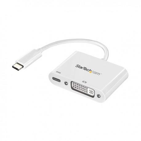 StarTech.com CDP2DVIUCPW USB grafiikka-adapteri 1920 x 1200 pikseliä Valkoinen