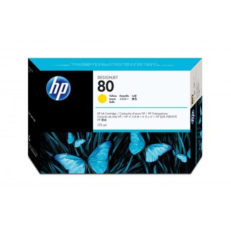 HP 80 Alkuperäinen Keltainen