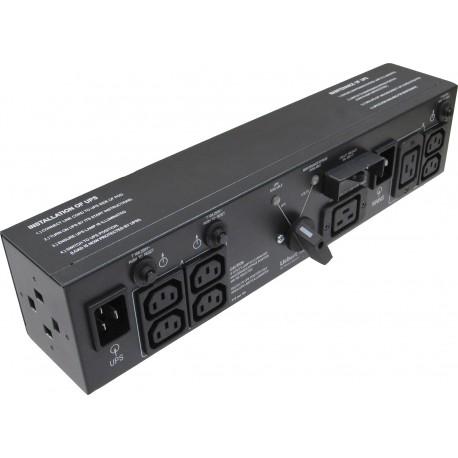 Vertiv MP2-220L tehonjakeluyksikkö 2U Musta 4 AC-pistorasia(a)