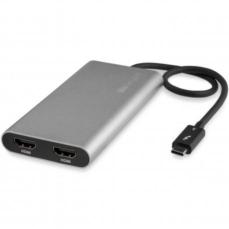 StarTech.com TB32HD24K60 USB grafiikka-adapteri 4096 x 2160 pikseliä Hopea