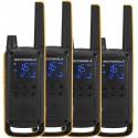 Motorola Talkabout T82 Extreme Quad Pack 16 kanavaa Musta, Oranssi