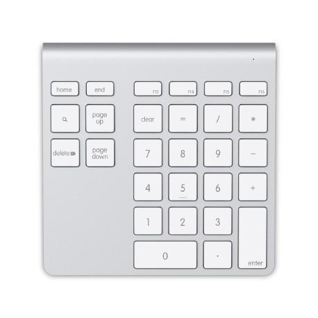 Belkin F8T068VF Numeerinen näppäimistö Bluetooth Kannettava tietokone/PC Alumiini