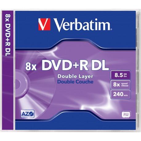 Verbatim 43540 tyhjä DVD-levy 8,5 GB DVD+R 1 kpl