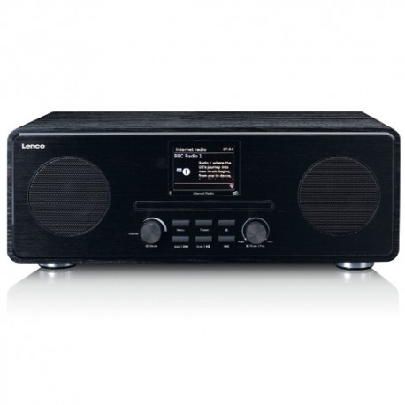 Lenco DIR-260 radio Internet Musta